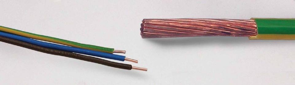 חוטים מבודדי PVC לבניין: (60227IEC 01 (H07-U/R